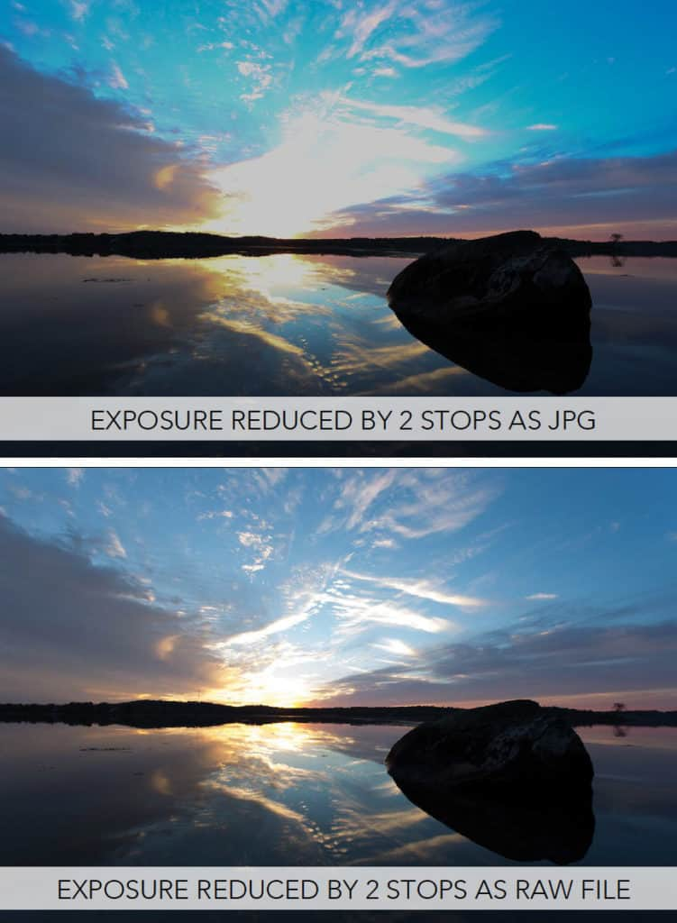 Raw vs Jpg exposure adjustment in Photoshop