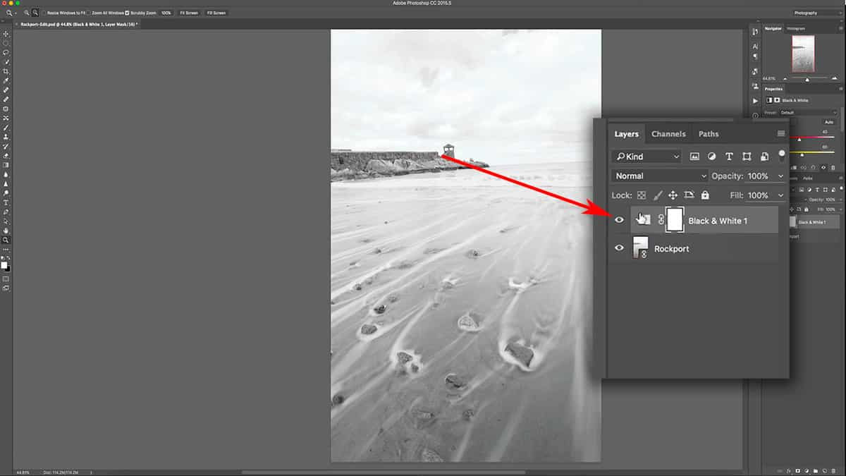 Adding an adjustment layer in Photoshop