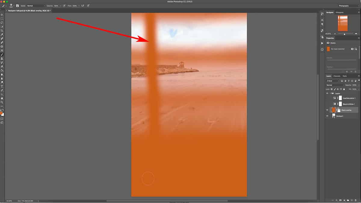 Adding white to a layer mask in Photoshop