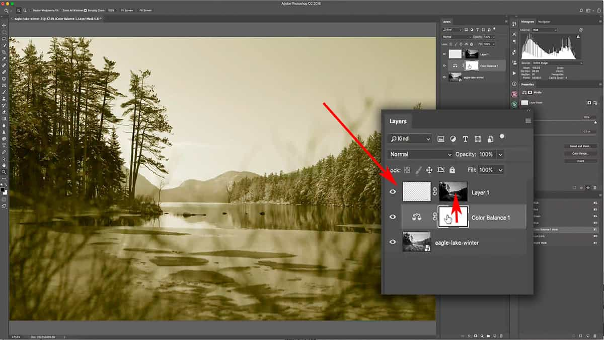 Moving a luminosity mask to another layer