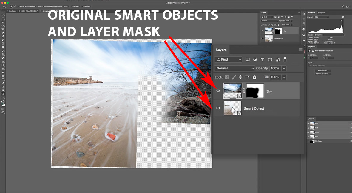 Smart objects within a smart object in Photoshop