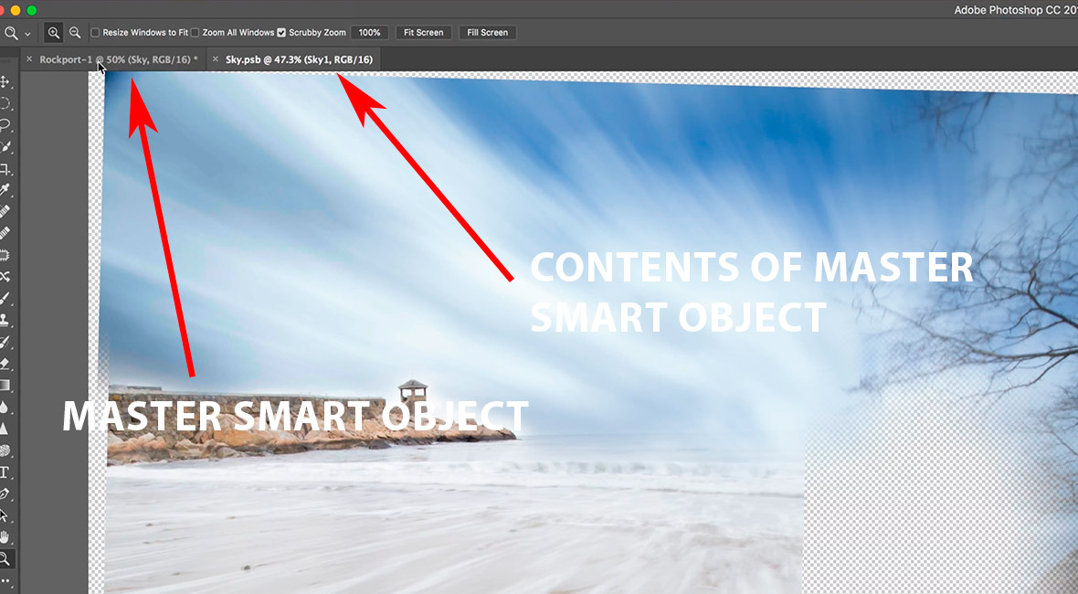 Content of a smart object in Photoshop