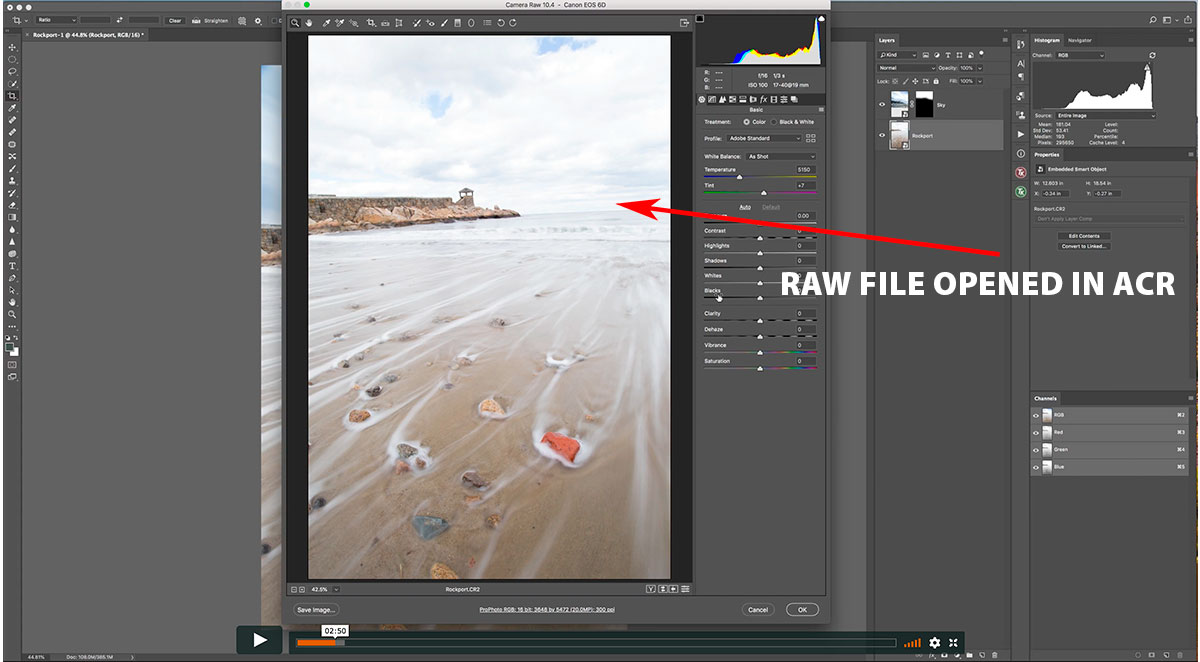Opening a raw file in ACR from a smart object