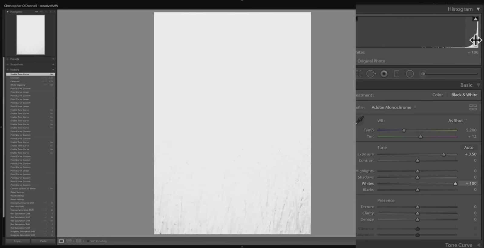 Tonal Limits - Lightroom and Photoshop