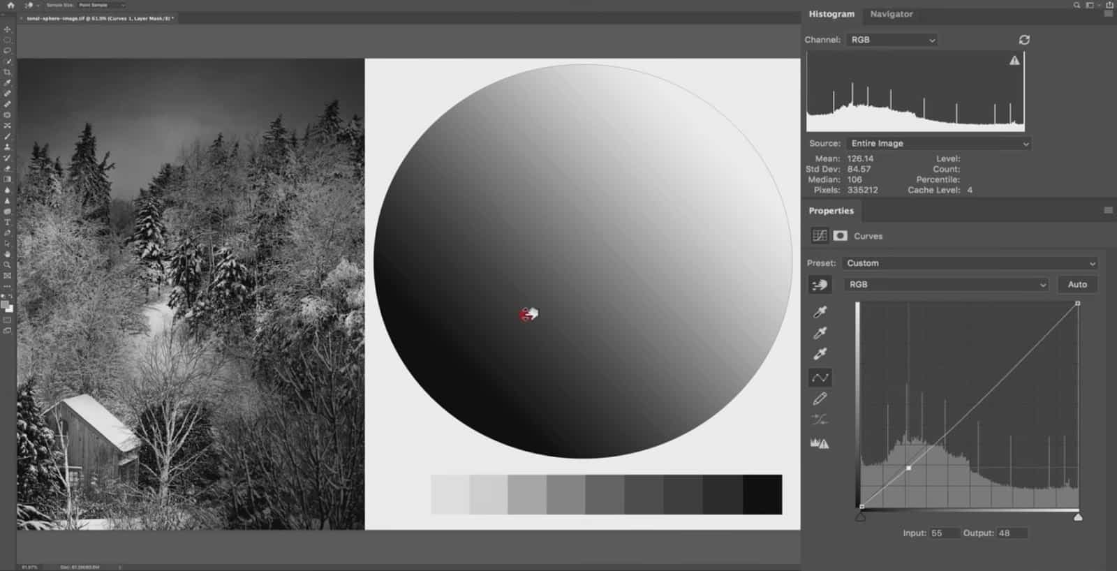 What does shadows do in Lightroom?