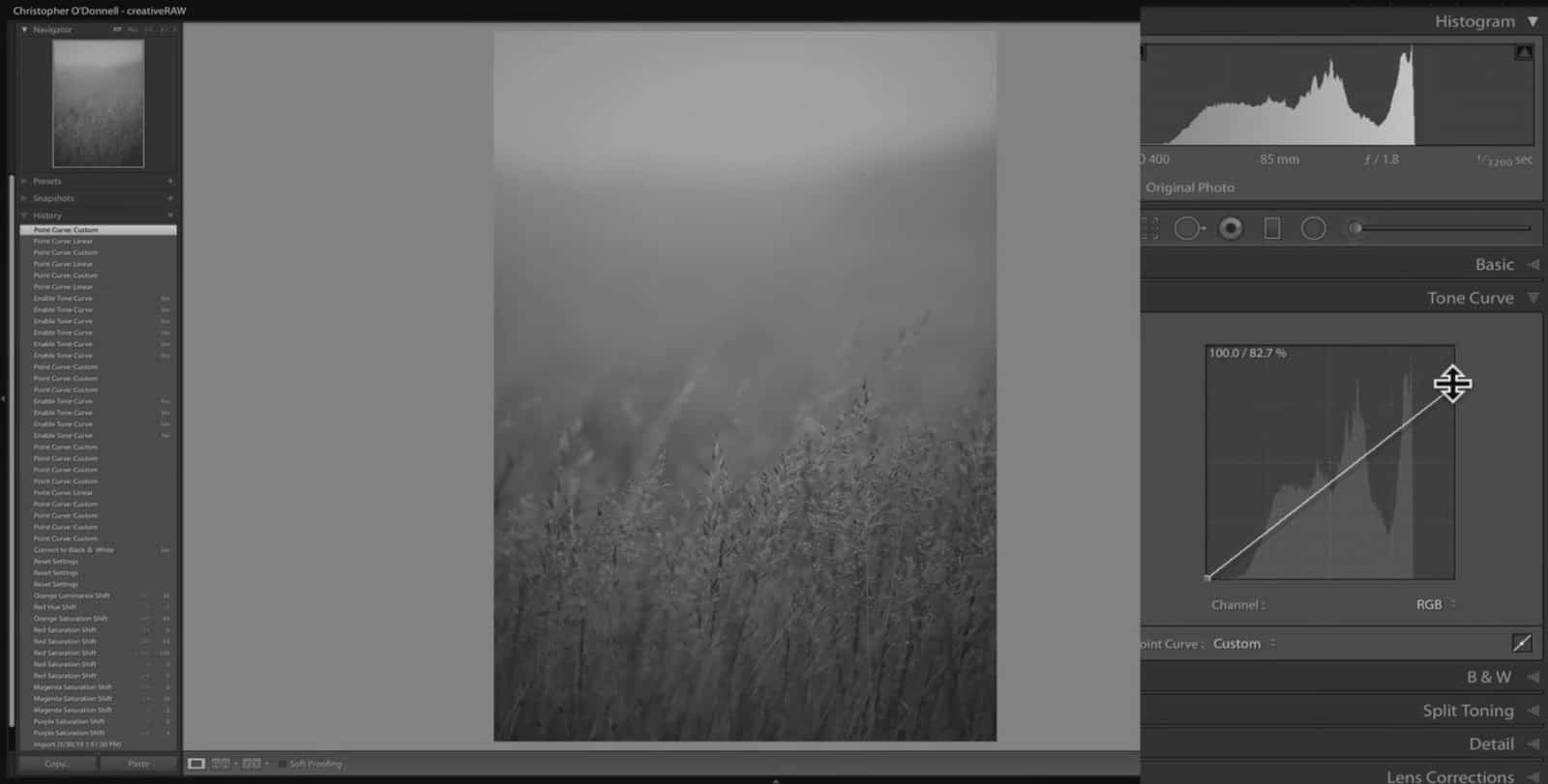 tonal limits lightroom