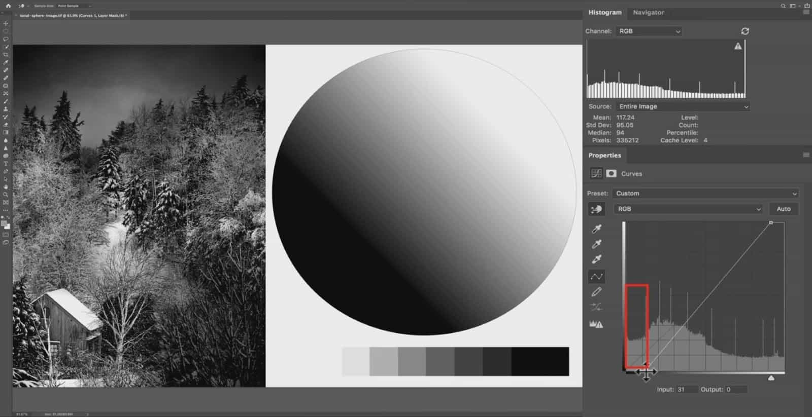 Changing Tones in the Histogram - CreativeRAW