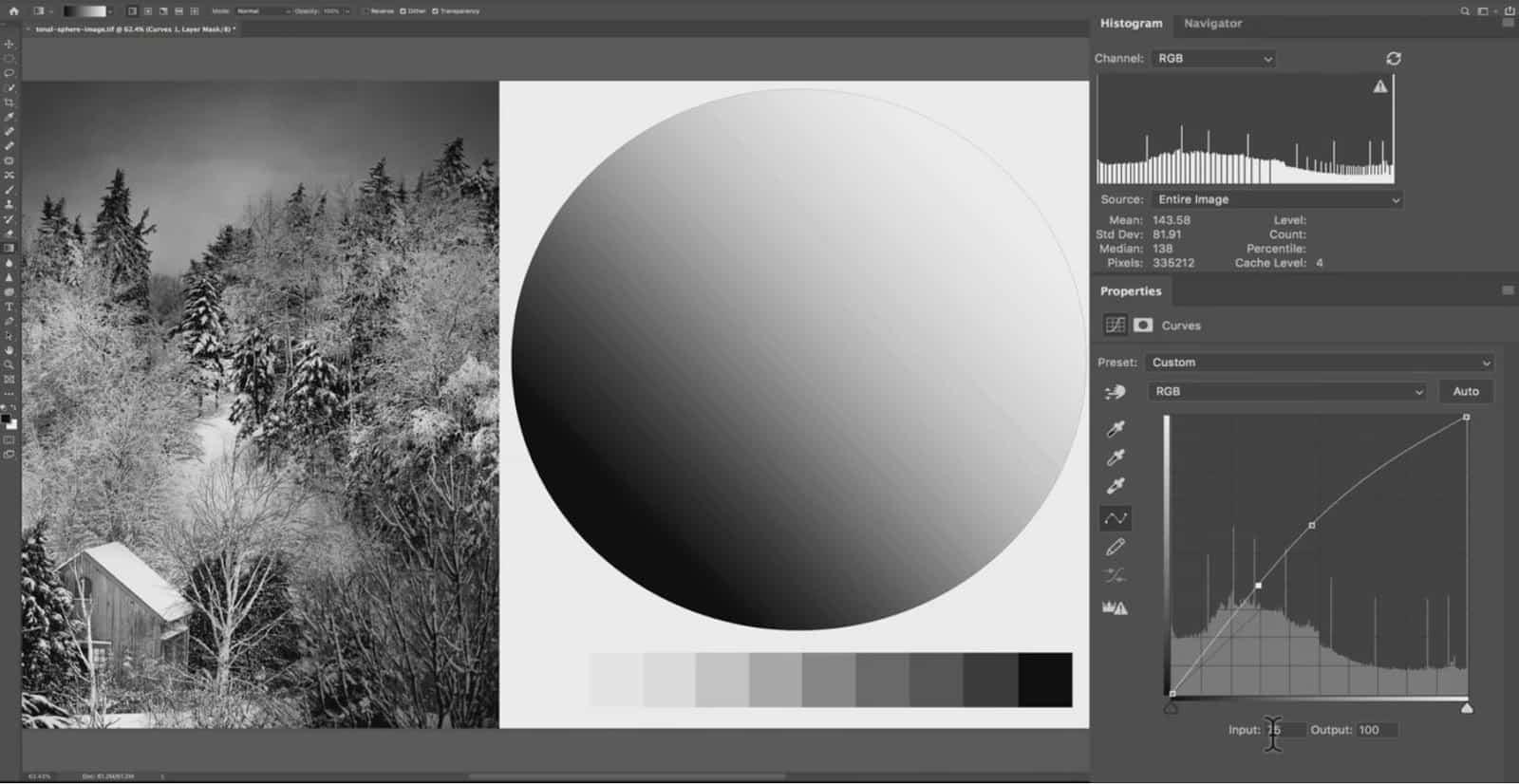 Brightening Pixels by 34 points - CreativeRAW
