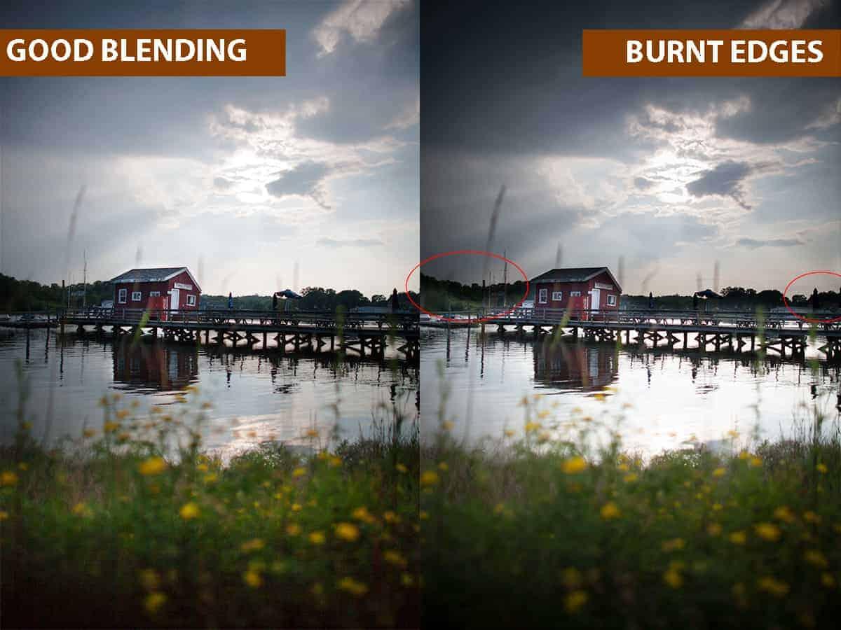 Good Blending vs Burnt Edges