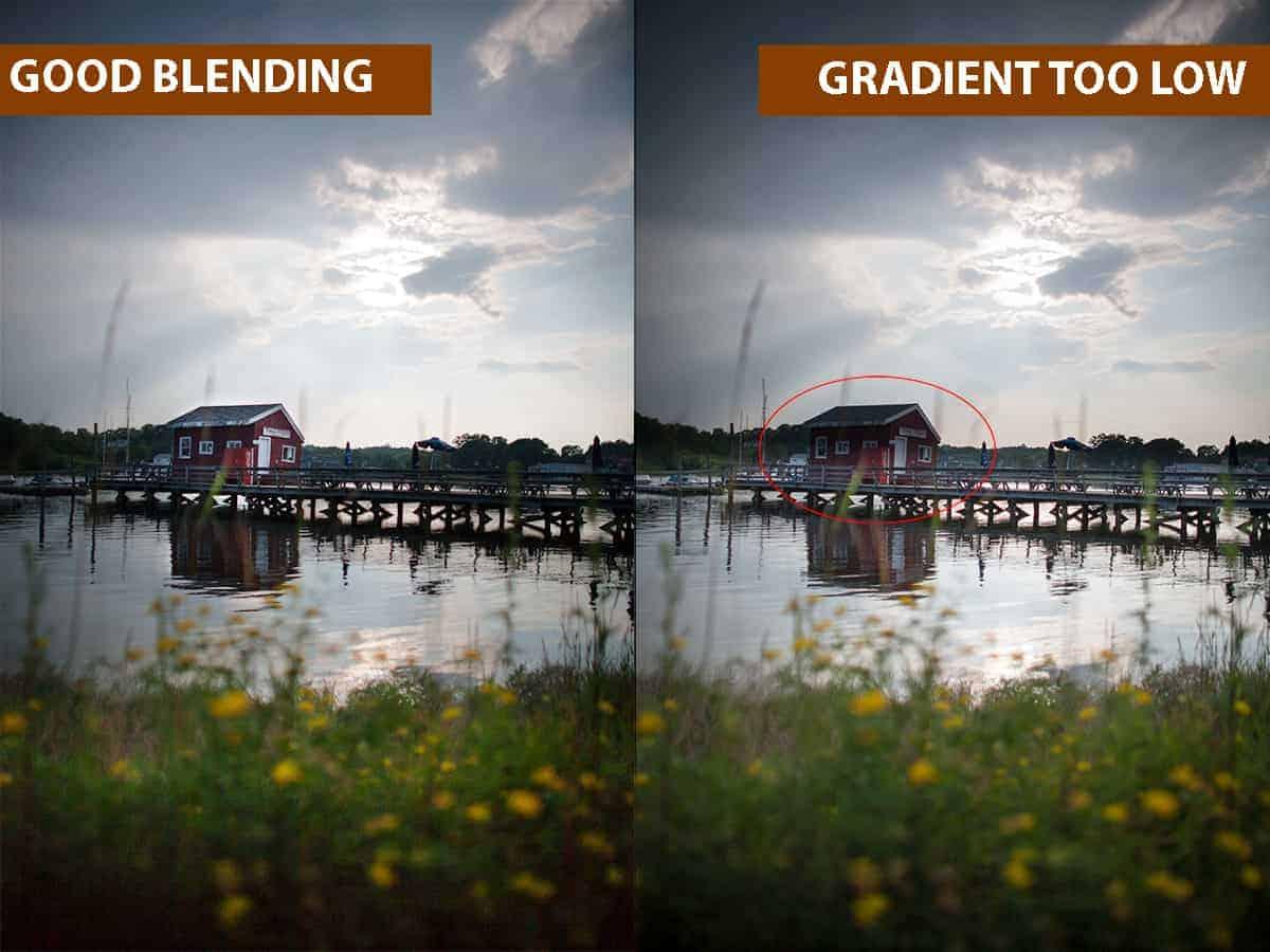 Good Blending vs Gradient Too Low