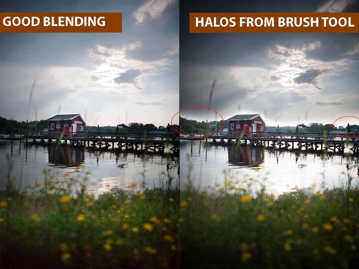 Good Blending vs Halos From Brush Tool
