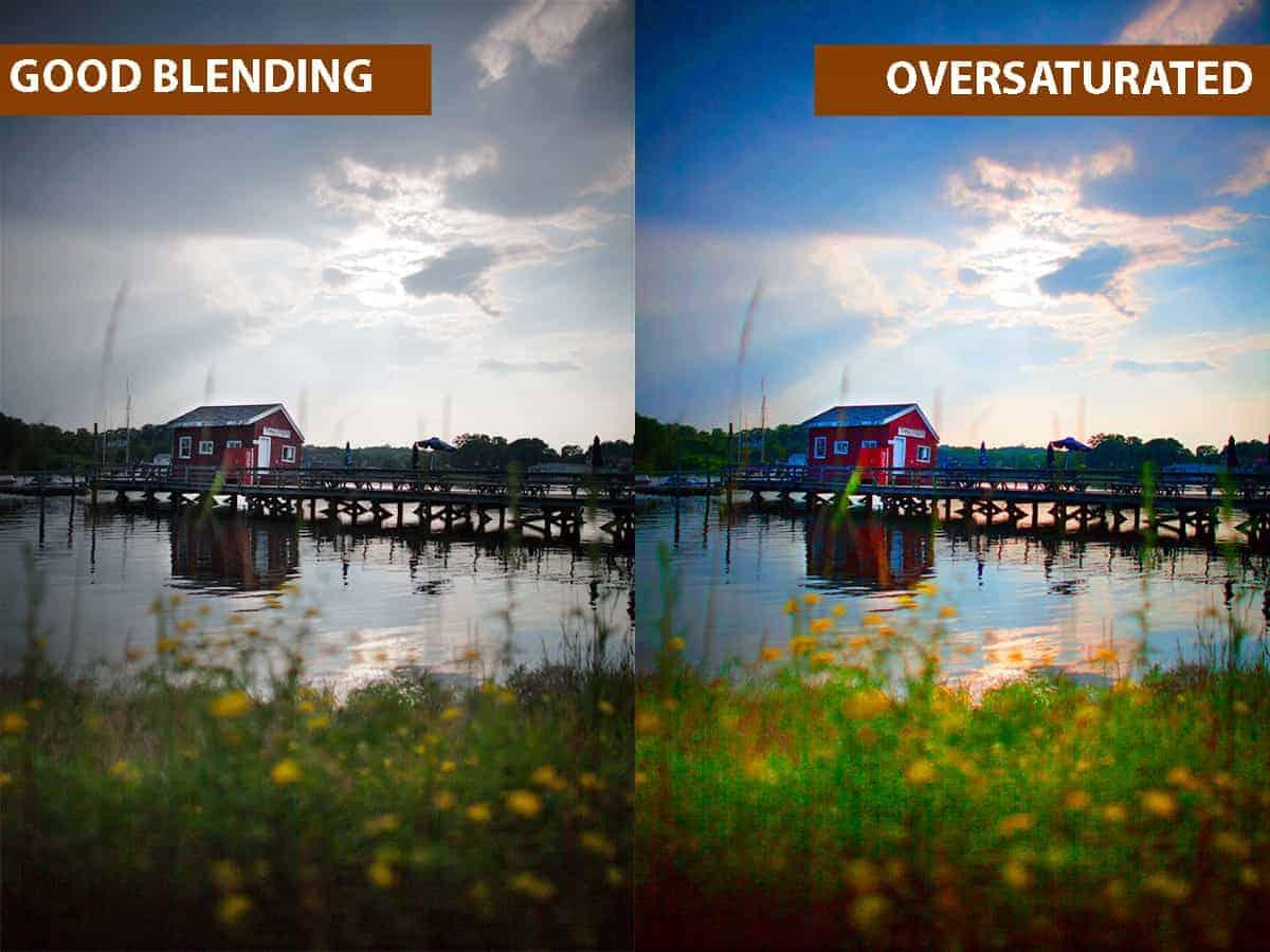 Good Blending vs Oversaturated