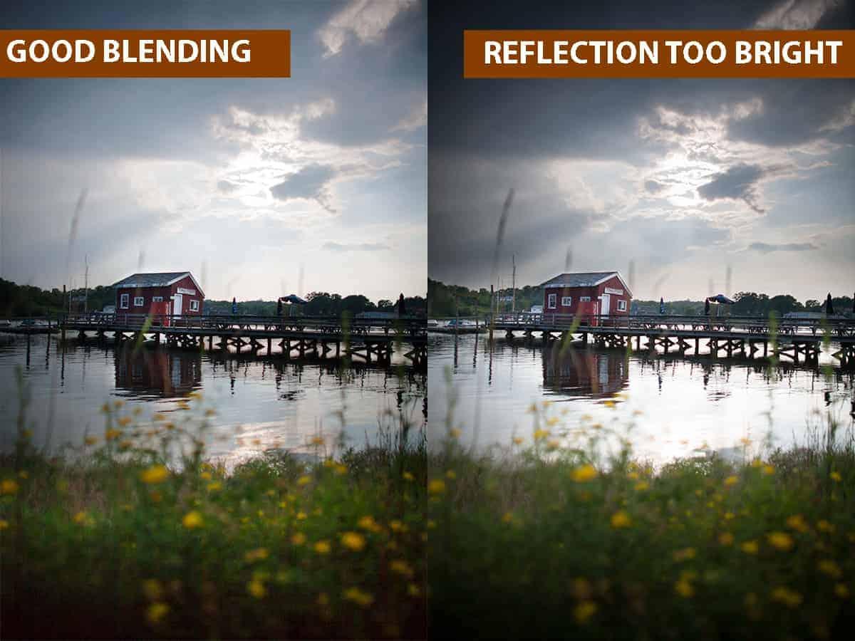 Good Blending vs Reflection Too Bright
