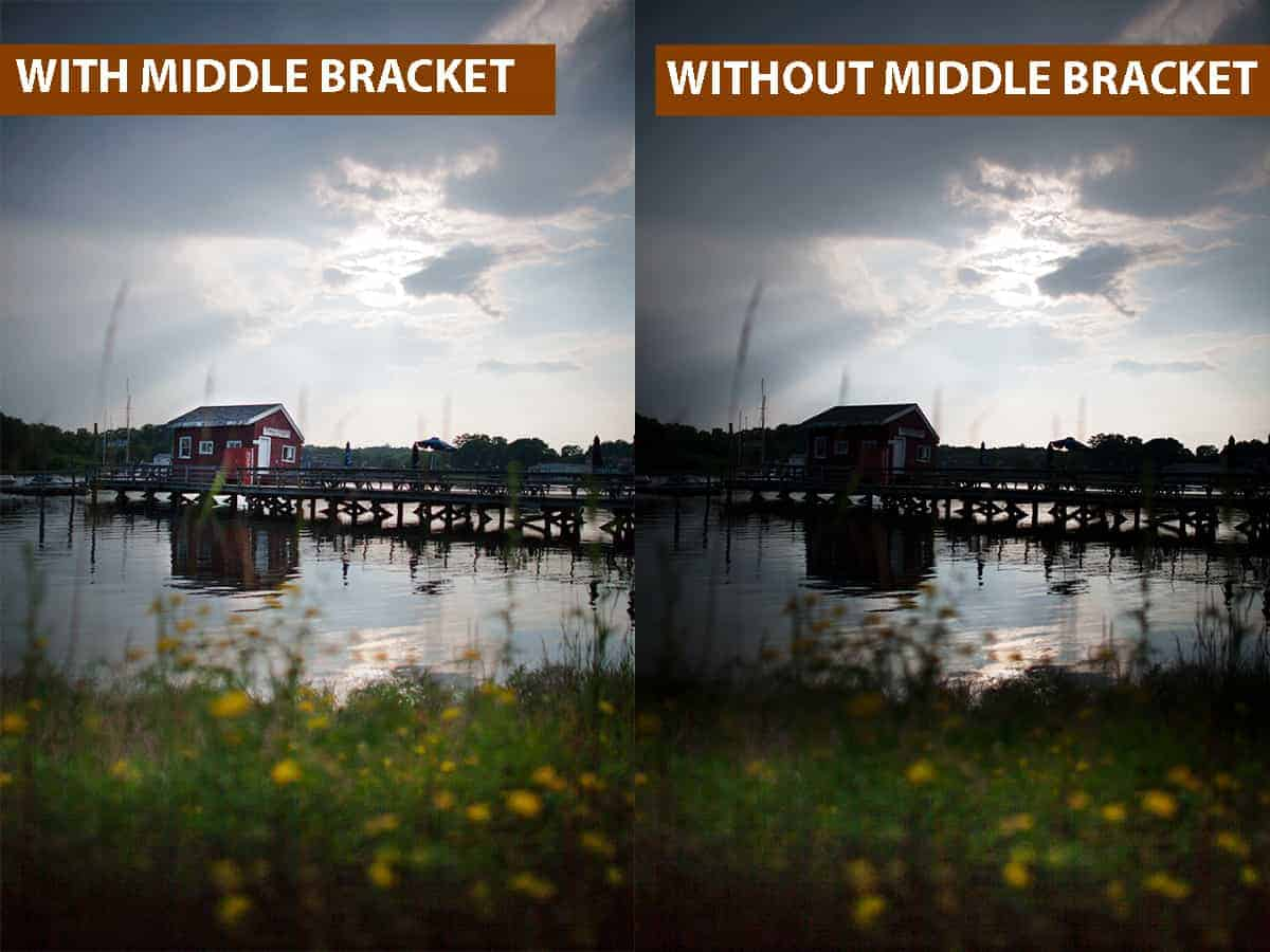 With Middle Bracket vs Without Middle Bracket