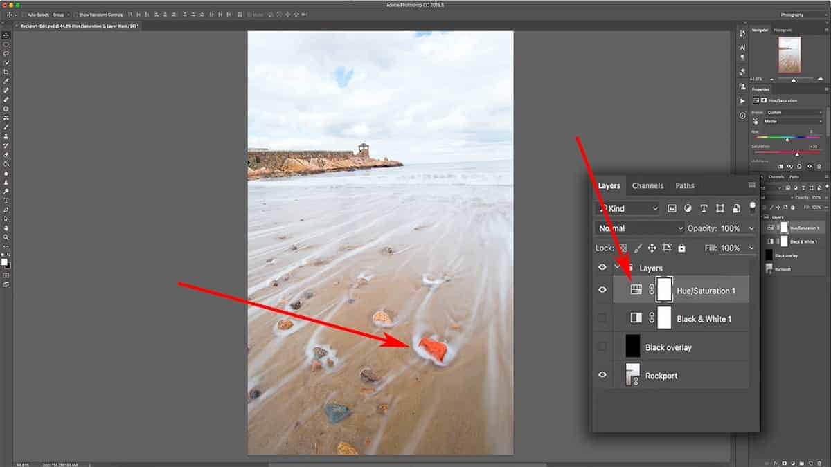 How layer masks work to control saturation