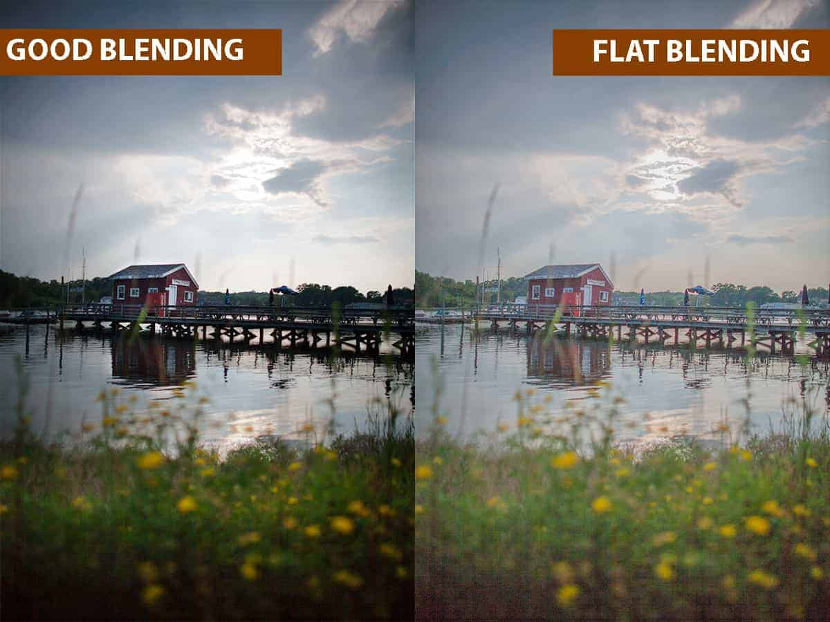 Good Blending vs Flat Blending