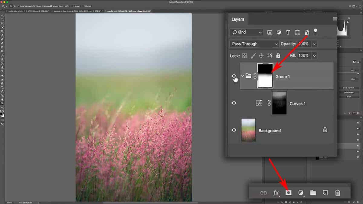 Masking the mask of a curves adjustment layer in Photoshop