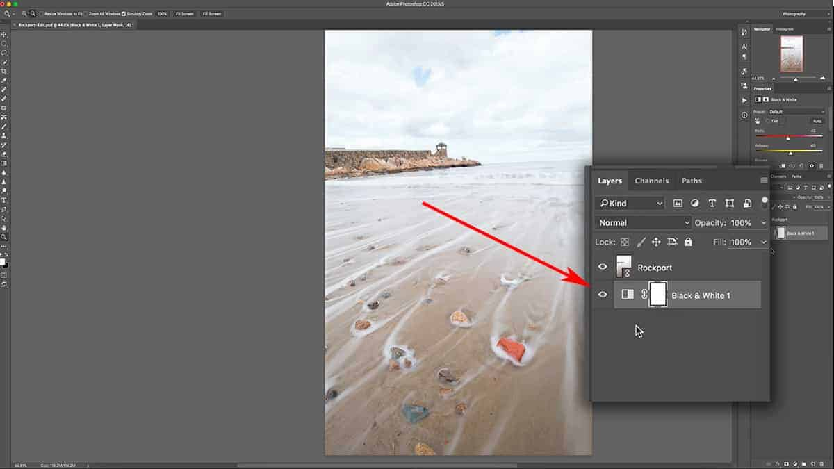 Moving the adjustment layer Photoshop tutorial