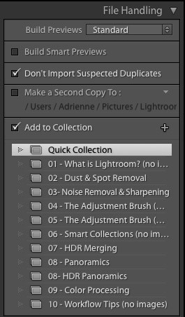 Add Images to a Collection in Lightroom
